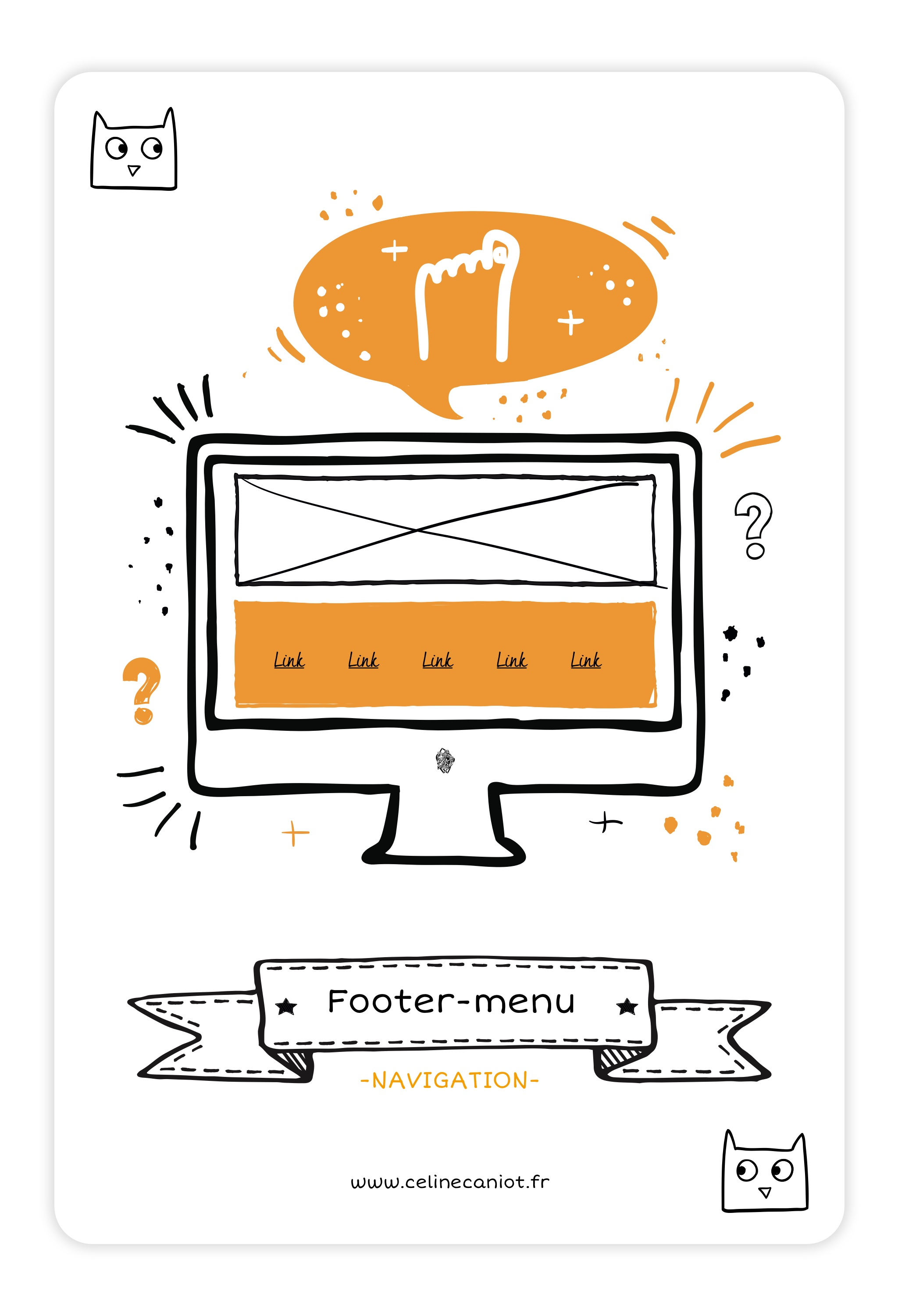 footer-menu-ux design