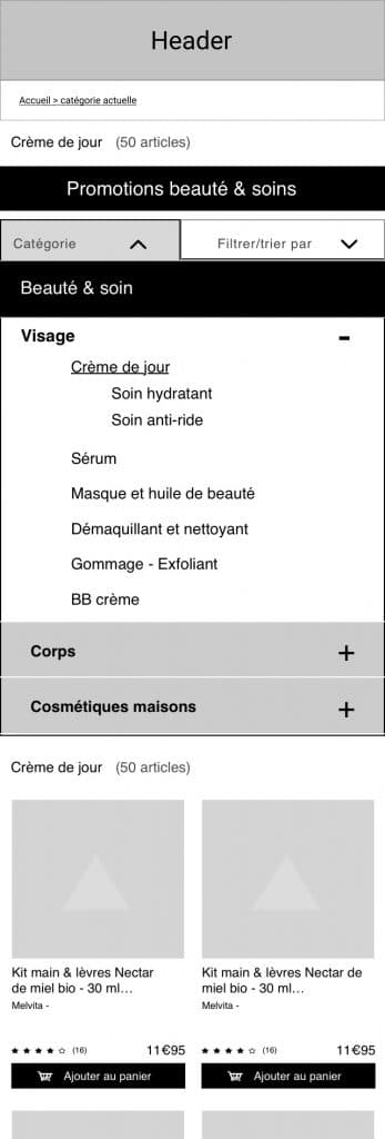 mobile first - catégorie